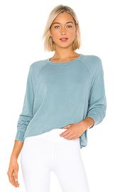 The Great The College Sweatshirt in Turquoise from Revolve com at Revolve