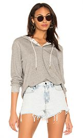 The Great The Henley Hoodie in Varsity Grey from Revolve com at Revolve