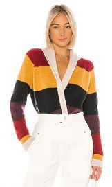 The Great The Stripe Lodge Cardigan in Sunbeam Multi from Revolve com at Revolve
