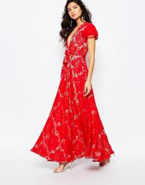 The Jetset Diaries  The Jetset Diaries Piazza Maxi Dress in Red at Asos