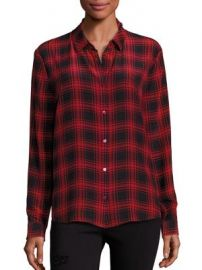 The Kooples - Checked Silk Shirt at Saks Fifth Avenue