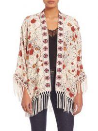 The Kooples - Hippy Flower Print Silk Kimono at Saks Off 5th