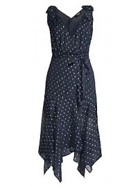 The Kooples - Sleeveless Polka Dot Midi Dress at Saks Fifth Avenue