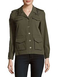 The Kooples - Solid Four-Pocket Long-Sleeve Jacket at Saks Off 5th