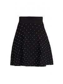 The Kooples - Studded Knit A-Line Skirt at Saks Fifth Avenue