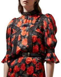 The Kooples Abstract Roses Jacquard Top Women - Bloomingdale s at Bloomingdales