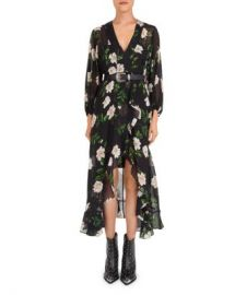 The Kooples Allure Ruffled Floral Midi Dress Women - Bloomingdale s at Bloomingdales
