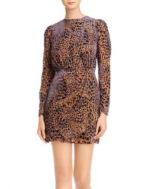 The Kooples Artichoke Burnout Velvet Leopard Mini Dress Women - Bloomingdale s at Bloomingdales
