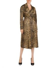 The Kooples Belted Leopard-Print Silk Kimono Women - Bloomingdale s at Bloomingdales