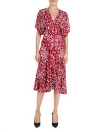 The Kooples Botanical-Print Midi Dress Women - Bloomingdale s at Bloomingdales