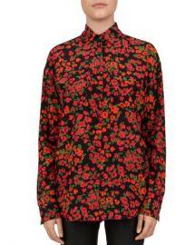 The Kooples Camellia Print Silk Blouse Women - Bloomingdale s at Bloomingdales