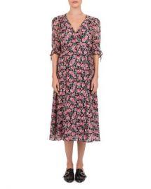 The Kooples Candy Flowers Printed Wrap Dress Women - Bloomingdale s at Bloomingdales
