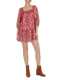 The Kooples Cherry Blossom Square-Neck Mini Dress Women - Bloomingdale s at Bloomingdales
