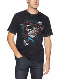The Kooples Cotton Graphic T-Shirt with Skull and Punk Rock  at Amazon