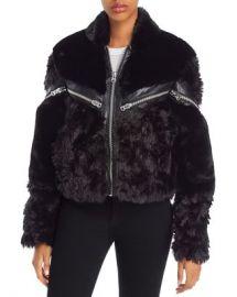 The Kooples Curly Zip-Detail Faux-Fur Coat  Women - Bloomingdale s at Bloomingdales