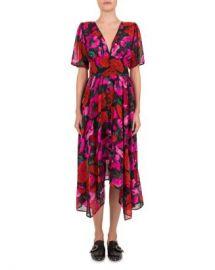 The Kooples Dolce Vita Silk Floral-Print Dress Women - Bloomingdale s at Bloomingdales