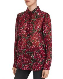 The Kooples Floral Print  amp  Metallic Dot Pattern Shirt Women - Bloomingdale s at Bloomingdales