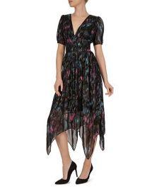 The Kooples Floral-Print Metallic Dress at Bloomingdales