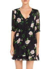 The Kooples Floral-Print Silk Mini Dress Women - Bloomingdale s at Bloomingdales