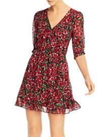 The Kooples Floral Print and Metallic Dot Dress Women - Bloomingdale s at Bloomingdales