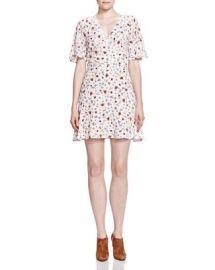 The Kooples Flutter Sleeve Printed Dress at Bloomingdales