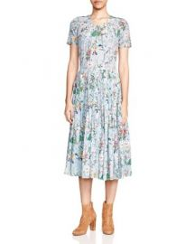 The Kooples Folkloric Print Silk Dress at Bloomingdales