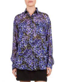 The Kooples Hortensia Silk Shirt Women - Bloomingdale s at Bloomingdales