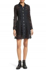 The Kooples Lace Shirtdress at Nordstrom