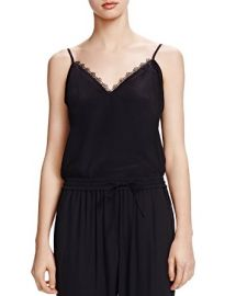 The Kooples Lace-Trimmed Silk Camisole at Bloomingdales