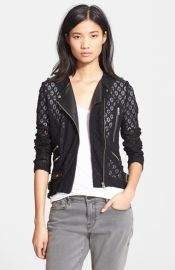 The Kooples Lace and Leather Jacket at Nordstrom