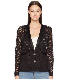 The Kooples Lace and Satin Jacket at Zappos