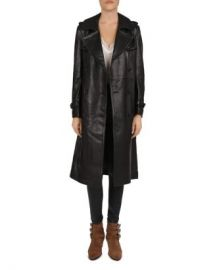 The Kooples Leather Trench Coat Women - Bloomingdale s at Bloomingdales