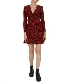 The Kooples Leopard Fit-and-Flare Dress Women - Bloomingdale s at Bloomingdales