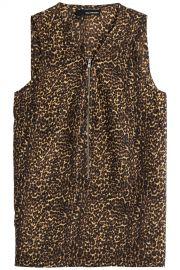 The Kooples Leopard Print Silk Top at Stylebop