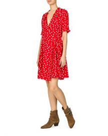 The Kooples Magic Mushroom Polka Dot Wrap Dress Women - Bloomingdale s at Bloomingdales
