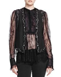The Kooples Matka Embroidered Vest at Bloomingdales
