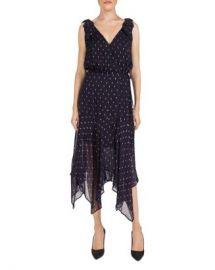 The Kooples Metallic-Dot Midi Wrap Dress Women - Bloomingdale s at Bloomingdales