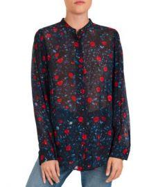 The Kooples Poison Roses Floral Print Shirt Women - Bloomingdale s at Bloomingdales