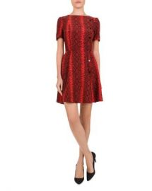 The Kooples Red Hot Snake-Print Mini Dress Women - Bloomingdale s at Bloomingdales