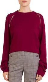 The Kooples Ring-Trim Crewneck Sweater at Bloomingdales