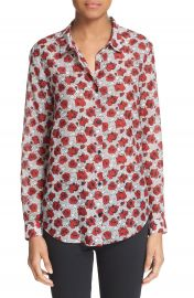 The Kooples Rose Print Cotton and Silk Shirt at Nordstrom