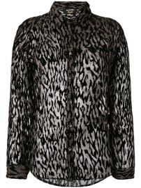 The Kooples Sheer Animal Print Blouse  174 - Buy SS17 Online - Fast Delivery  Price at Farfetch