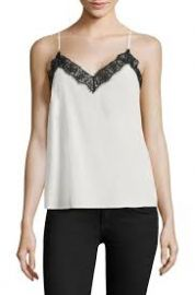 The Kooples Silk and Lace Trim Camisole at Saks Fifth Avenue