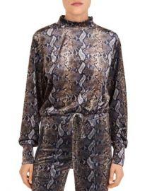The Kooples Snakeskin-Print Fleece Sweatshirt Women - Bloomingdale s at Bloomingdales