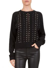 The Kooples Studded  amp  Grommeted Sweater Women - Bloomingdale s at Bloomingdales
