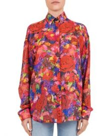 The Kooples Summer Night Floral Print Silk Shirt Women - Bloomingdale s at Bloomingdales