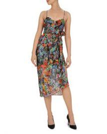 The Kooples Tokyo Night Floral-Print Midi Overlay Dress Women - Bloomingdale s at Bloomingdales