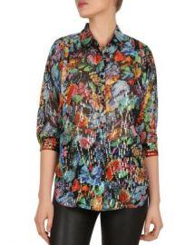 The Kooples Tokyo Night Floral-Print Shirt Women - Bloomingdale s at Bloomingdales