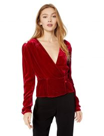 The Kooples Women s Women s Deep V-Neck Long Sleeve Party Blouse at Amazon