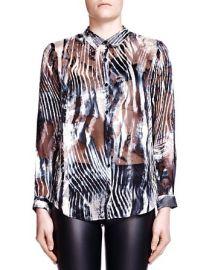 The Kooples Zebra Burnout Print Shirt at Bloomingdales